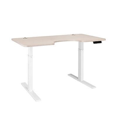 Autonomous SmartDesk - Height-Adjustable Standing Desk - Single Motor - White Frame - Oak Ergonomic Top