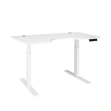 Autonomous SmartDesk - Height-Adjustable Standing Desk - Single Motor - White Frame - White Ergonomic Top