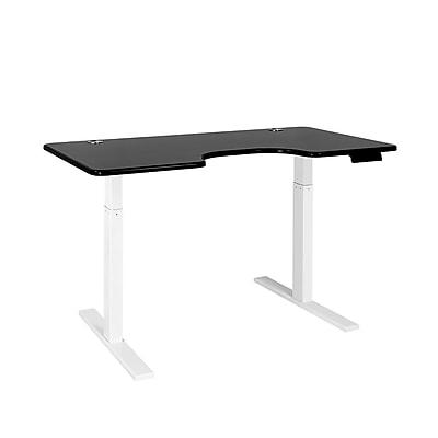 Autonomous SmartDesk - Height-Adjustable Standing Desk - Single Motor - White Frame - Black Ergonomic Top