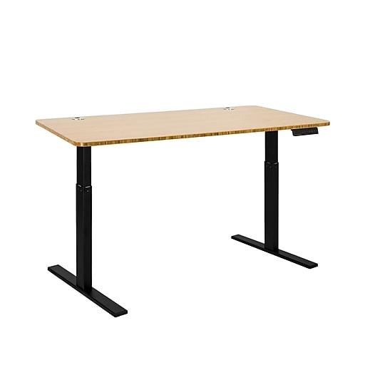 Autonomous SmartDesk Height Adjustable Standing Desk Black Frame, Bamboo Classic Top (A55-A9)