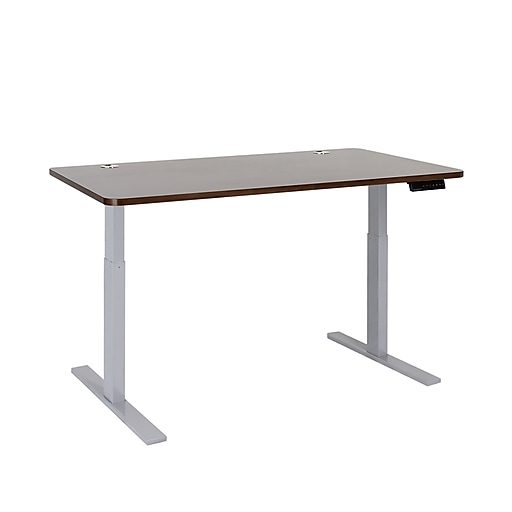 Autonomous SmartDesk Height Adjustable Standing Desk Gray Frame, Walnut Classic Top (A56-A10)