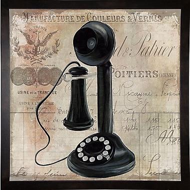Winston Porter 'Call Waiting I' Graphic Art Print; Cafe Espresso Framed