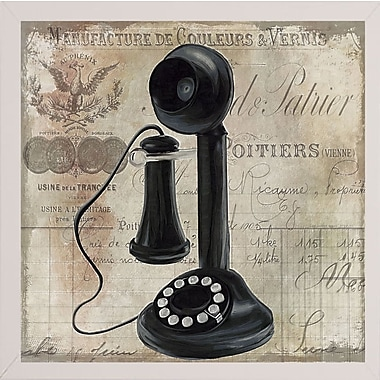 Winston Porter 'Call Waiting I' Graphic Art Print; White Medium Framed