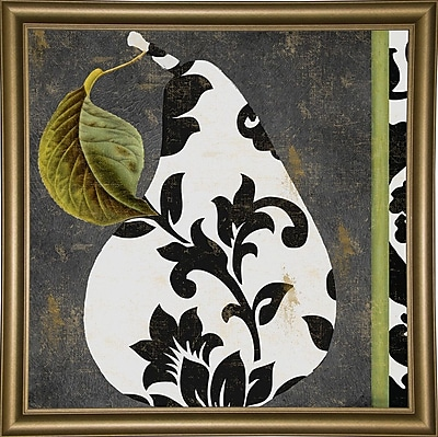 Winston Porter 'Decorative Pear I' Graphic Art Print; Bistro Gold Framed