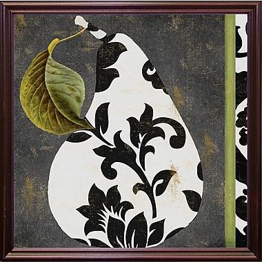 Winston Porter 'Decorative Pear I' Graphic Art Print; Cherry Grande Framed