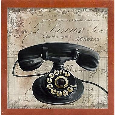 Winston Porter 'Call Waiting II' Graphic Art Print; Canadian Walnut Medium Framed