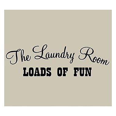 VWAQ The Laundry Room Loads of Fun Laundry Wall Decal