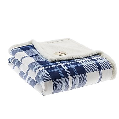 Woolrich Plush to Berber Throw; Navy