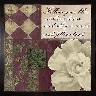 Winston Porter 'Follow Your Bliss' Graphic Art Print; Paper