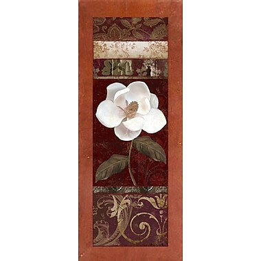Winston Porter 'Flores Blancas I' Graphic Art Print; Canadian Walnut Medium Framed