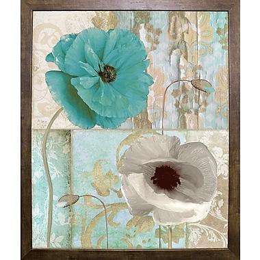 Winston Porter 'Beach Poppies II' Graphic Art Print; Cafe Mocha Framed