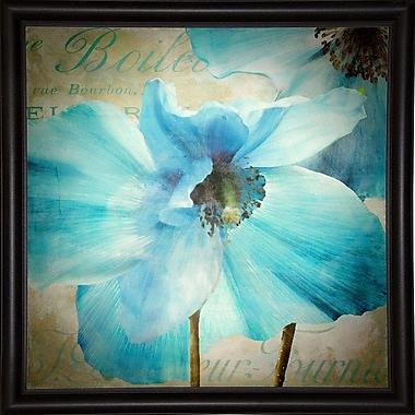Winston Porter 'Himalayan Blue II' Graphic Art Print; Bistro Expresso Framed