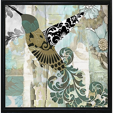 Winston Porter 'Hummingbird Batik II' Graphic Art Print; Metal Flat Black Framed