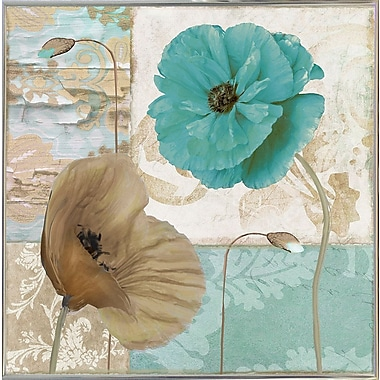 Winston Porter 'Beach Poppies IV' Graphic Art Print; Metal Silver Framed