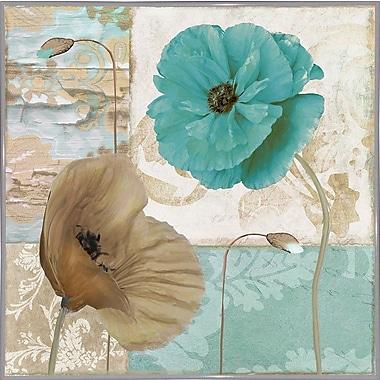 Winston Porter 'Beach Poppies IV' Graphic Art Print; Metal White Framed