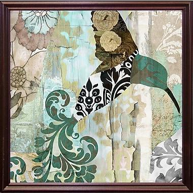 Winston Porter 'Hummingbird Batik I' Graphic Art Print; Cherry Grande Framed