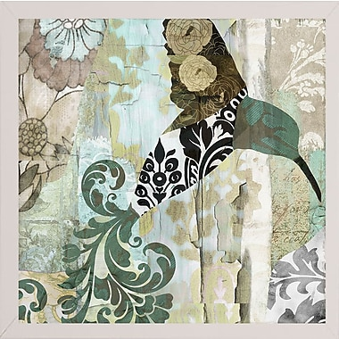 Winston Porter 'Hummingbird Batik I' Graphic Art Print; White Medium Framed