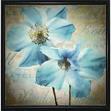 Winston Porter 'Himalayan Blue I' Graphic Art Print; Metal Flat Black Framed