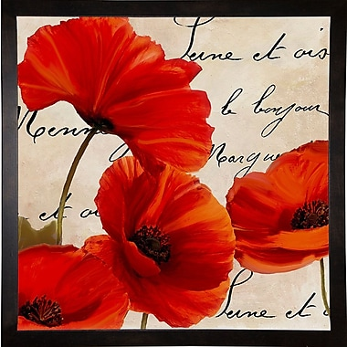 Winston Porter 'Coquelicots Rouge I' Graphic Art Print; Wrapped Canvas