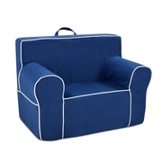 Zoomie Kids Durand Kids Microfiber Foam Chair; Navy Blue