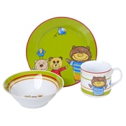 Zoomie Kids Edelson Traditional Porcelain Children's 3 Piece Dinnerware Set, Service for 1