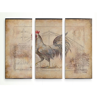 August Grove 'Rustic Fowl II' Graphic Art Print Multi-Piece Image on Wrapped Canvas; 32'' H x 48'' W