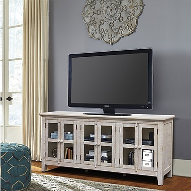 August Grove Geers Antique 70'' TV Stand; White