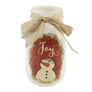 August Grove Barratt Joy Snowman Lighted Decorative Jar
