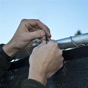 Aleko Aluminum Eye Outdoor Backyard Fencing Privacy Windscreen; Black
