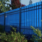 Aleko Aluminum Eye Outdoor Backyard Fencing Privacy Windscreen; Blue