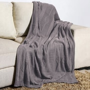 Alcott Hill Winterstown Combed Cotton Throw; Ash