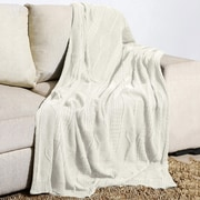 Alcott Hill Winterstown Combed Cotton Throw; Ivory
