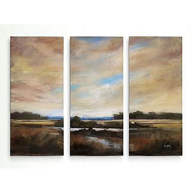 Alcott Hill 'Meadow Sunset' Acrylic Painting Print Multi-Piece Image on Wrapped Canvas