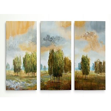 Alcott Hill 'Meadow Vista II' Acrylic Painting Print Multi-Piece Image on Wrapped Canvas