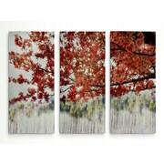 Alcott Hill 'Sakura on the Lake II' Acrylic Painting Print Multi-Piece Image on Wrapped Canvas