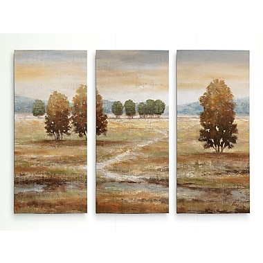 Alcott Hill 'Linen Landscape I' Acrylic Painting Print Multi-Piece Image on Wrapped Canvas