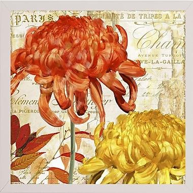 Winston Porter 'Chrysanthemes I' Graphic Art Print; White Medium Framed
