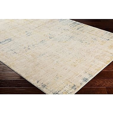 Winston Porter Holmes Distressed Navy Area Rug; Rectangle 2' x 3'