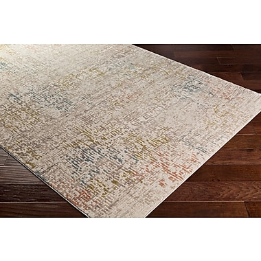 Winston Porter Holmes Distressed Lime Area Rug; Rectangle 7'10'' x 10'3''