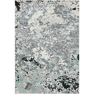 Winston Porter Holmstrom Abstract Gray Area Rug; Rectangle 5'3'' x 7'3''