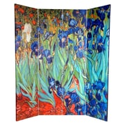 World Menagerie Wright 70.88'' x 63'' Works of Van Gogh 4 Panel Room Divider