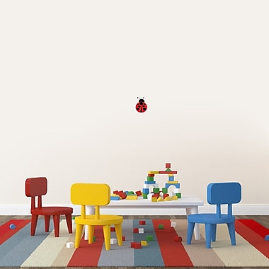 Zoomie Kids Ladybug Printed Wall D cor; 6'' H x 4'' W