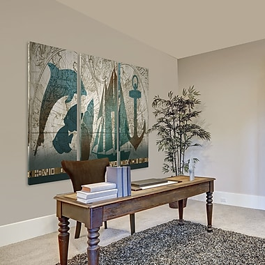 Breakwater Bay 'To the Sea' Acrylic Painting Print Multi-Piece Image on Wrapped Canvas
