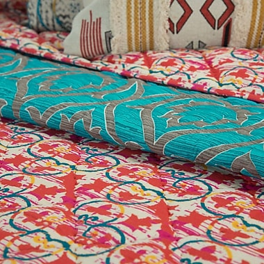 Bloomsbury Market Queenstown 100pct Cotton 3 Piece Reversible Quilt Set; King