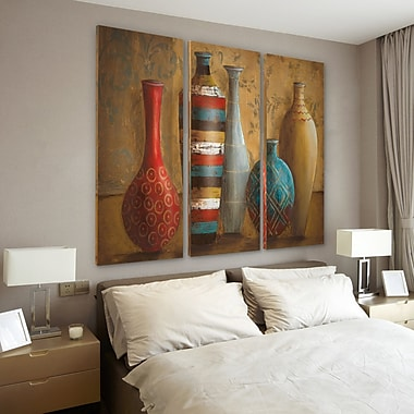 Bloomsbury Market 'Vessels of Tabuk' Acrylic Painting Print Multi-Piece Image on Wrapped Canvas