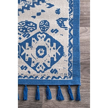 Bungalow Rose Quartier Hand-Woven Blue Area Rug; 9' x 12'