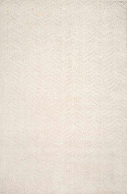 Brayden Studio Myron Hand-Woven Ivory Area Rug; 5' x 8'
