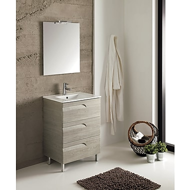 Brayden Studio Oberlin 43'' Single Bathroom Vanity Set; Maple