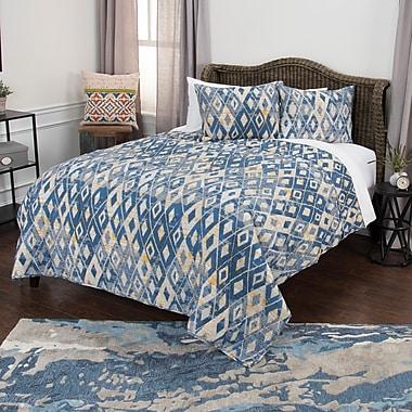 Brayden Studio Oberry 100pct Cotton 3 Piece Reversible Quilt Set; Queen