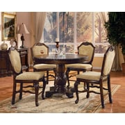 Astoria Grand Mcclelland 5 Piece Counter Height Dining Table Set; Espresso